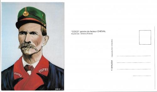 carte postale,Palais Idéal,Coco,Coco peintre, facteur Cheval,Joseph Ferdinand Cheval